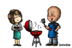 Young Adult Cook Out